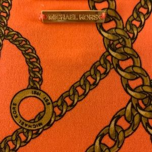 MICHAEL KORS blouse ... orange with golden chains
